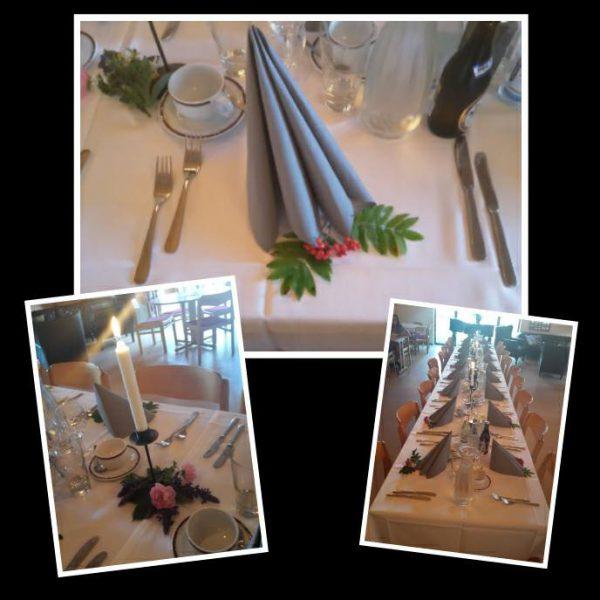 Höstdukning restaurangen Gullbrannagården