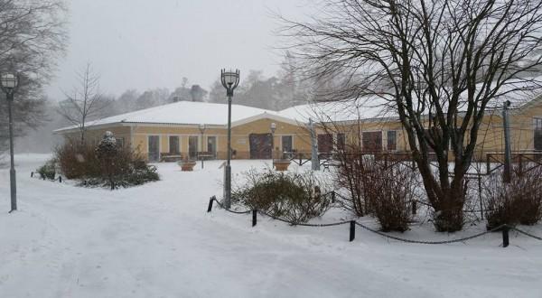 Snö Halmstad Gullbrannagården