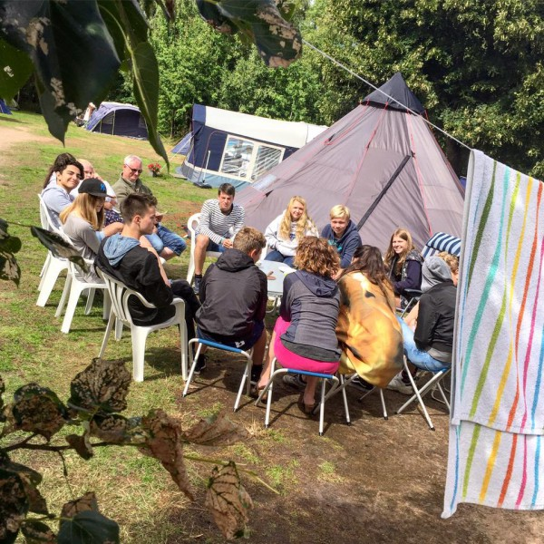 läger tält